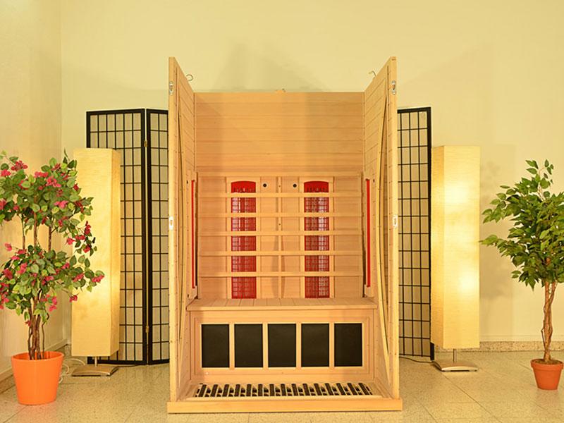 infrarotkabine at 2 plus infrarotkabine mit tiefenw rme. Black Bedroom Furniture Sets. Home Design Ideas