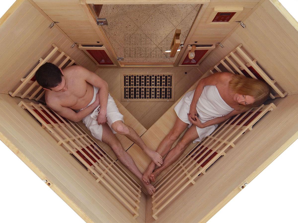 infrarotkabine at eck mit tiefenw rme wirkung. Black Bedroom Furniture Sets. Home Design Ideas