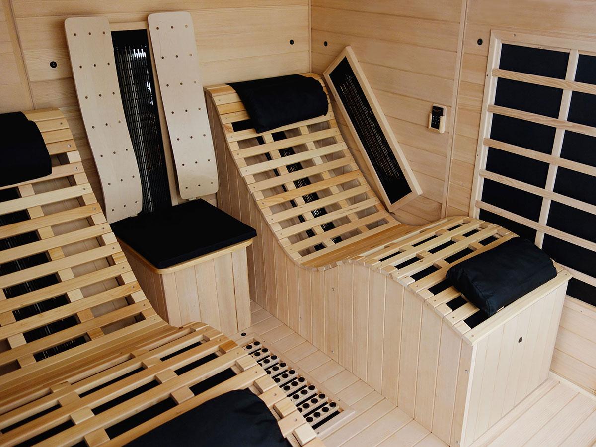 liegekabine ats relax 2 die premium infrarotkabine mit. Black Bedroom Furniture Sets. Home Design Ideas