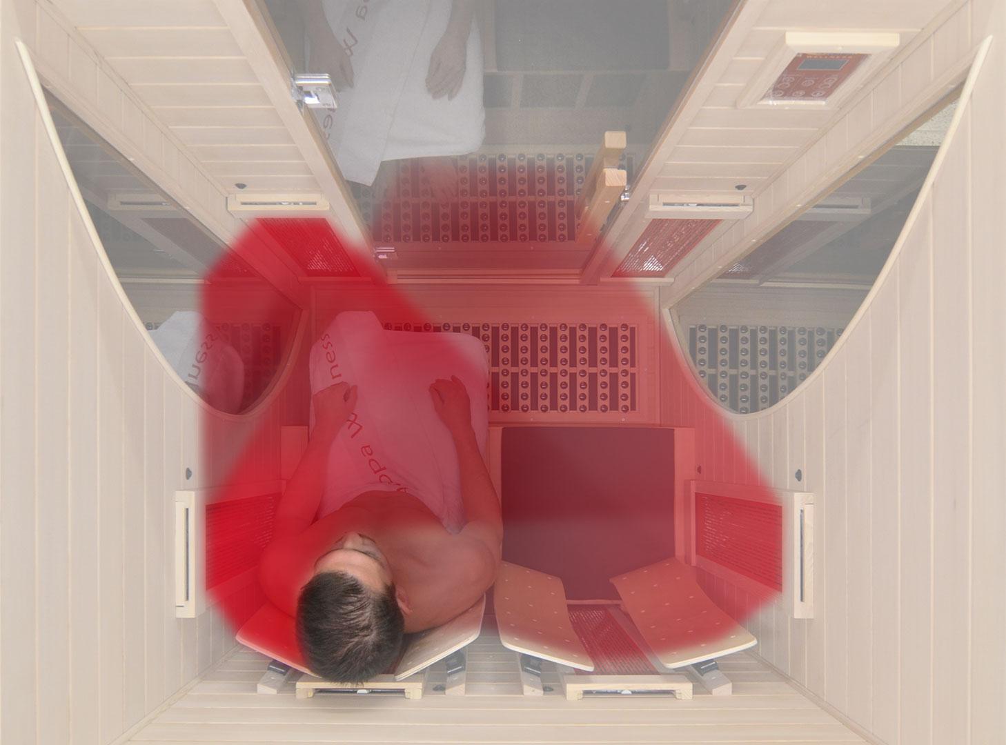 infrarotkabine at 2 plus infrarotkabine mit tiefenw rme wirkung. Black Bedroom Furniture Sets. Home Design Ideas